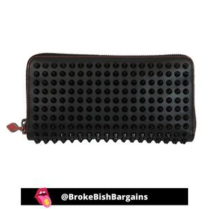 Christian Louboutin Stud Panettone Black Wallet